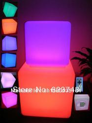 أثاث led مضيء! مقاوم للماء 40*40*40 سنتيمتر مكعب led مع جهاز التحكم عن بعد ، LED تضيء كرسي البراز ، مكعب led مضيء في الهواء الطلق