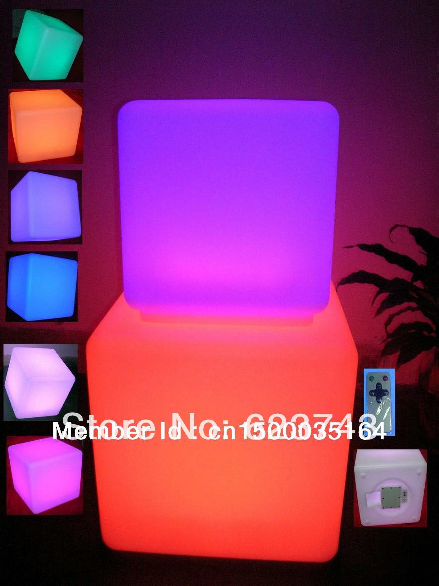 led illuminated furniture!waterproof 40*40*40CM led cube with remote control,LED light up stool chair,luminous led cube outdoor купить