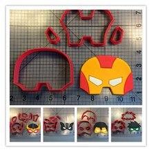 Super Hero Mask Series Fondant Cupcake Top Custom Made 3D Printed Cookie Cutter Set