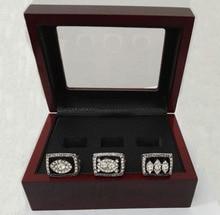 Envío de la gota De Super Bowl 3 Años Establece 1976/1980/1983 Raiders de Oakland Anillo de Campeonato Con Cajas De Madera