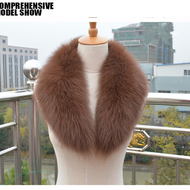 Luxury Real Fox Fur Collar Winter Women Fur Neck Ring Garment Accessory Lady Neckwarmer Pashmina Shawl Wraps VK2009