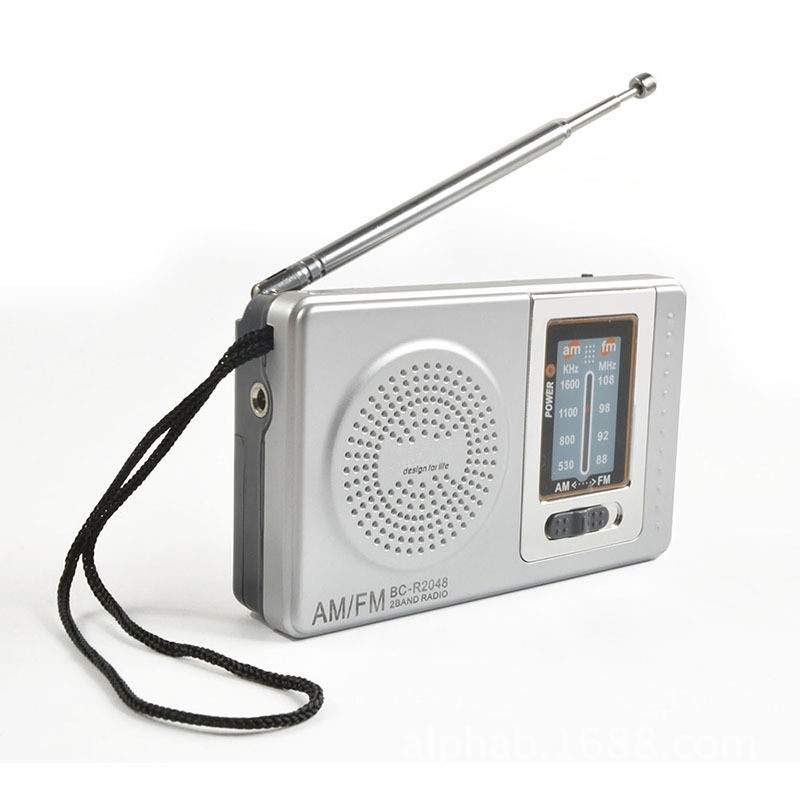 Brand New Mini Portable Radio R2048 With Dual Band FM/AM Radio Pocket Radio With Built-in Speaker High Quality