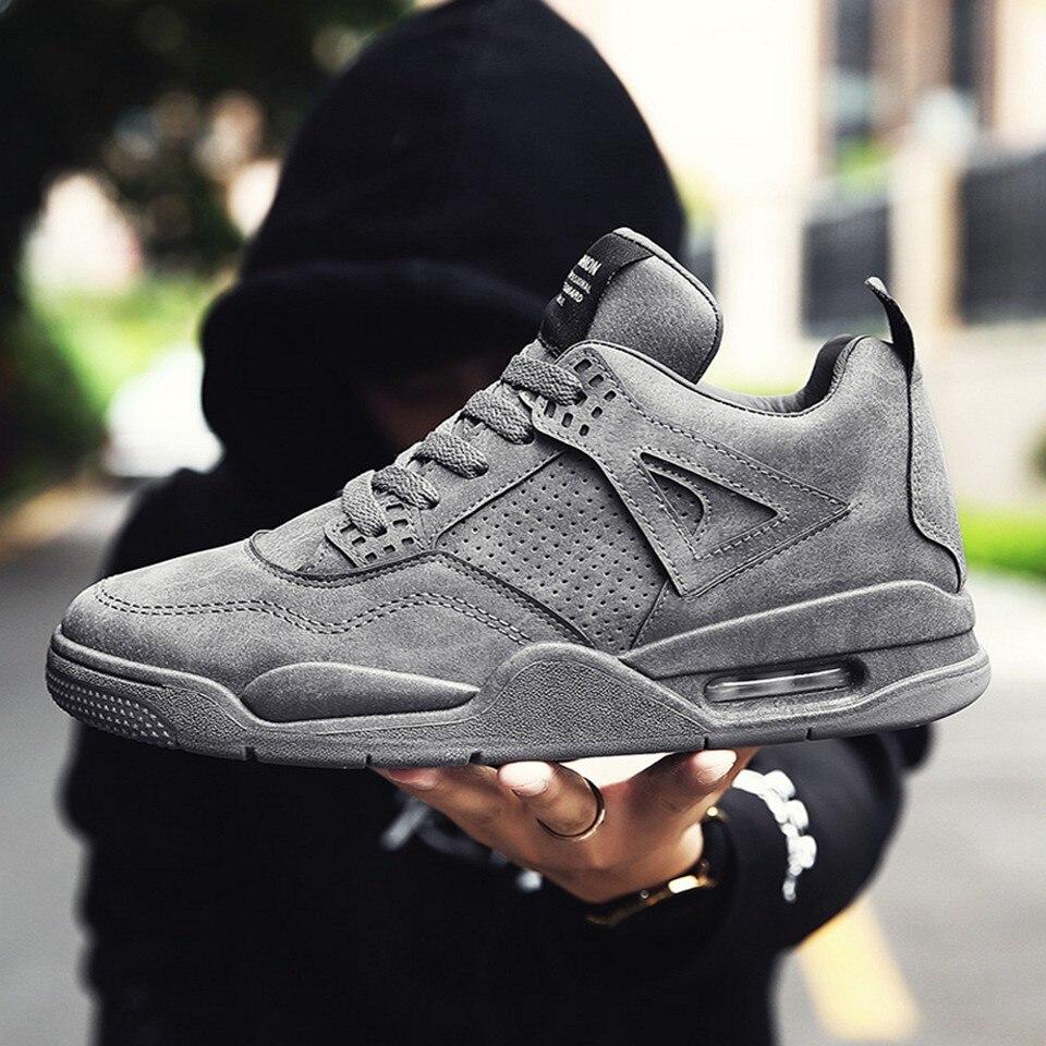 Ajouté e Chaussures gray Luxe Hommes Mode Marque c Semelle K616 b a Hiver  Coussin Qualité Gris ... f3a13fb9a9b4
