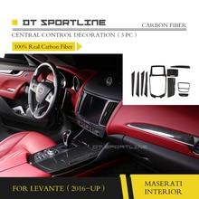 купить 100% Real Carbon Fiber Interior Trim For Maserati Levante S M157 Dash Kit Center Console Cover 2016 2017 door trim dashboard по цене 9300.74 рублей