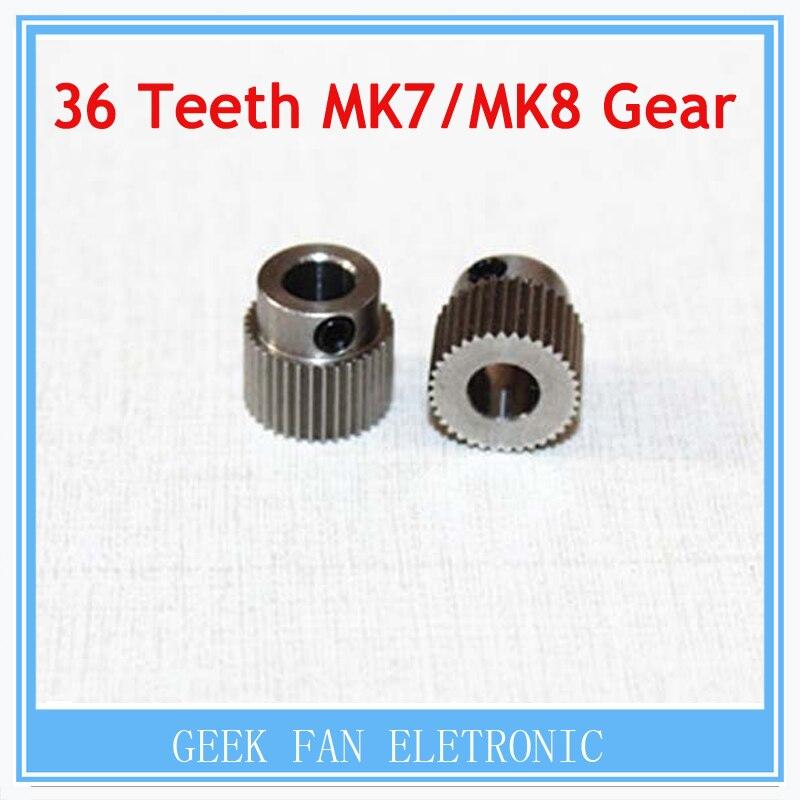 Accesorios de la impresora 3D 36 dientes MK7 / MK 8 de acero inoxidable de engra