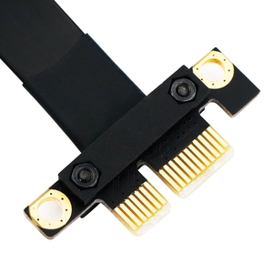 Image 5 - 90 Degree Pci E Pci Express 1X To 1X Slot Riser Card Converter Extender Ribbon Adapter Extension Cable Pci E X1 Gold Plated Fo