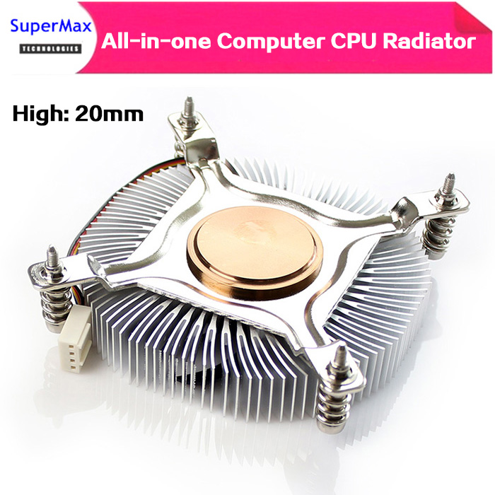 20MM ultra-thin CPU cooler silent temperature control for ITX All-in-one computer HTPC host 1U computer host(China)