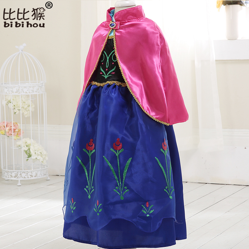 Girls Dress Summer COS costume princess Dress for Kids dress for girls Party  dress with cape Dress Costumes Cosplay 3