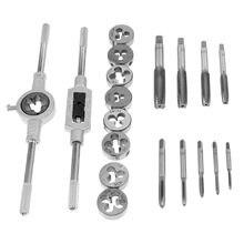 Conjunto de moldes de torneira Polegada ''-6'' nc, conjunto de rosca de parafuso 1/2 tampões, parafuso de mão de liga de aço conjunto de chaves de torneira, ferramentas manuais