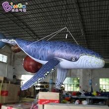 16.4ft гигантские надувные КИТ, цифровой печати надувной КИТ, большой кит надувные для украшения игрушки