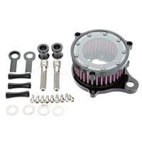 NEW 1Set Motorcycle Air Cleaner Intake Filter Syetem Aluminum Air Filter Filtro De Ar For Harley