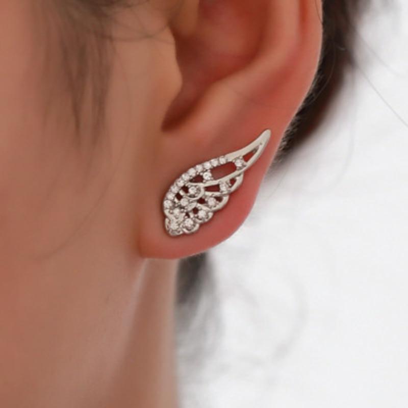 New Fashion Angel Wings Ohrringe Edelstahl Stud Ohrringe Für Frau