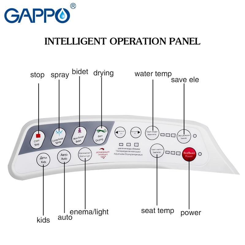 Image 5 - GAPPO housse de siège de bidet électrique  Couverture de siège de toilette chauffé intelligent, couvercle de siège de toilette sec propre intelligent, housse de siège de toiletteSièges de toilette   -