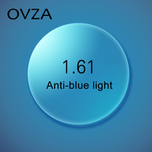 Ovza 1.61 אנטי כחול ray משקפיים עדשת סופר דק עדשות קצרות רואי אספריים עדשות קצרות רואי CR39 שרף לן נגד עייפות יכול אישית