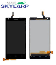 original LCD Module With Digitizer Touch Screen Replacement for Huawei Ascend G700-U10 – Black – With Huawei Logo