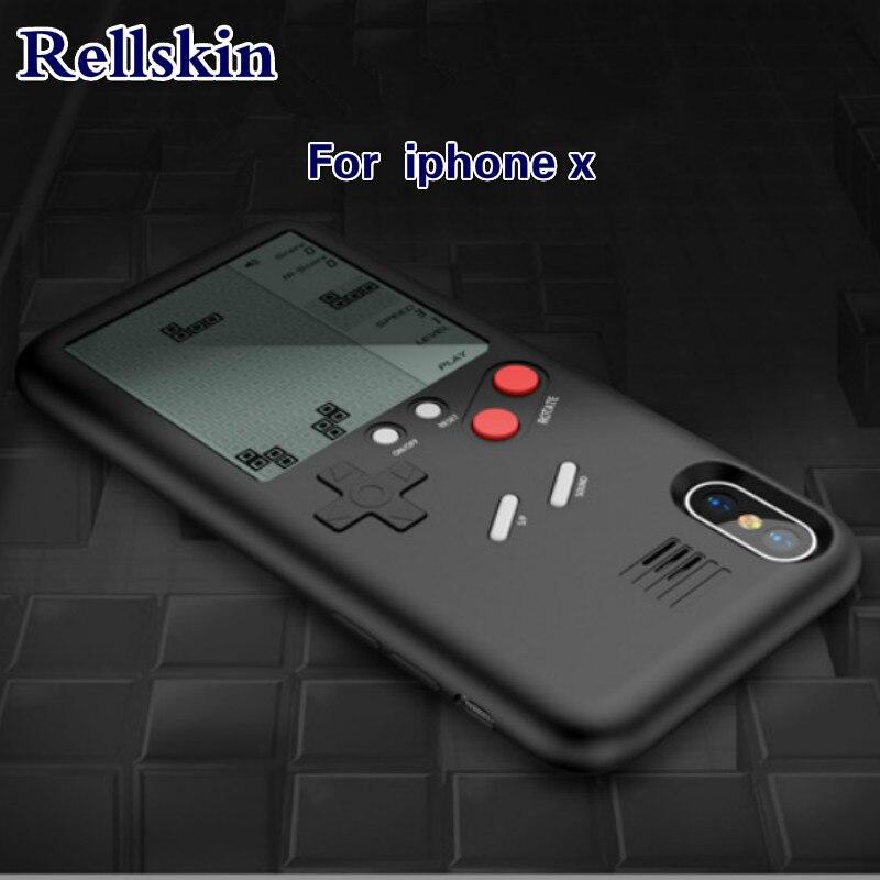 Tetris Ninetendo Casse Del Telefono per Apple iPhone X 10 Giochi Blokus Console di Gioco Regalo Equipaggiata Cassa Della Calotta di protezione