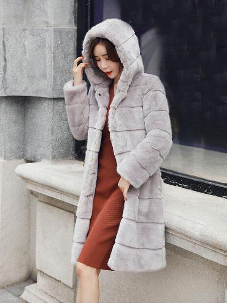 Natural Fur Coat Real Fur Women Coats Rabbit Coat Women Coat Sr467