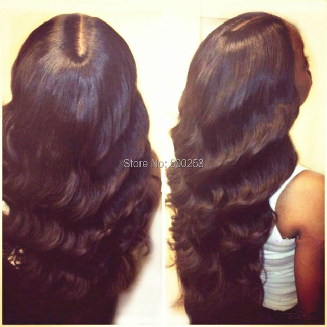 Stock Free Style Body Wave Peruvian Virgin Human Hair Full Lace Wigs/Lace Front Wig Natural Black Color In Stock For Black Women