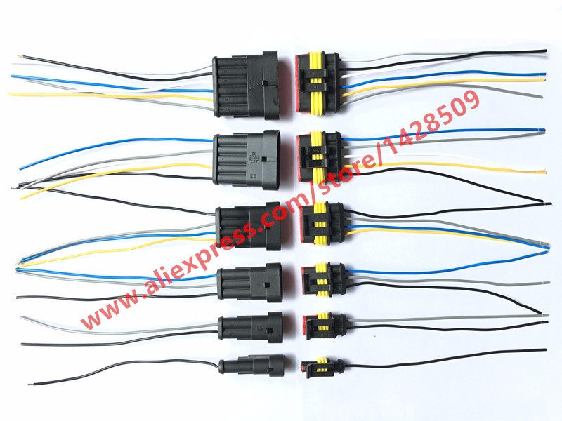 popular wire harness connector 4 pin male female buy cheap wire 30 sets superseal 1 5 kit amp tyco 1 2 3 4 5