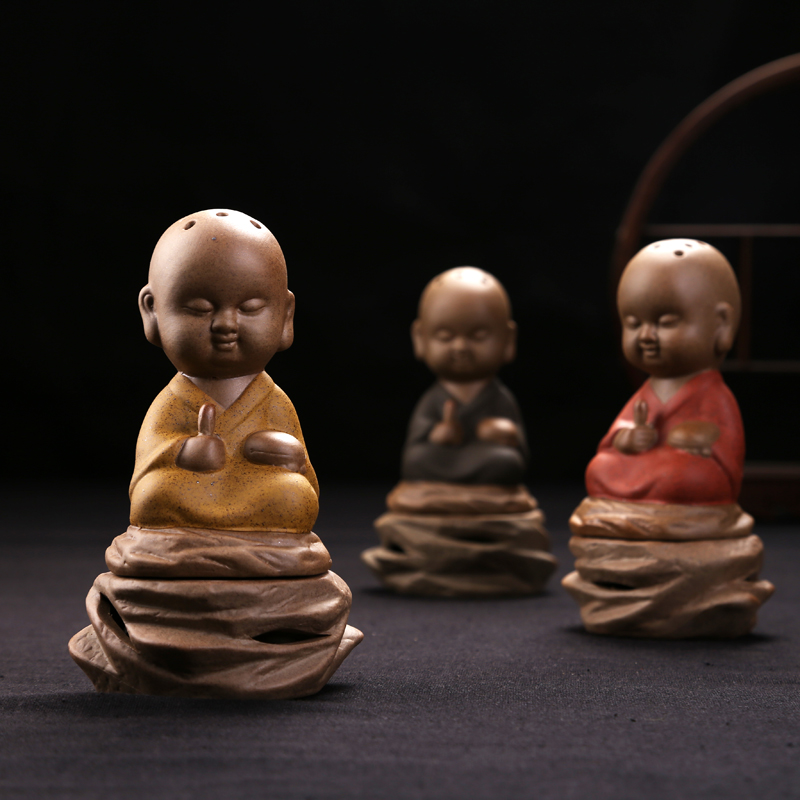 New Design Buddhist Ceramic Incense Burner Handmade Retro Coil Holder Home Decoration Crafts Censer Sandalwood