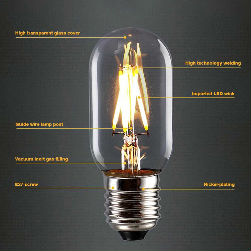 YNL Vintage LED Filament ampoule E27 2W 4W 6W 8W lumière Vintage LED Edison ampoule E14 lampe 220V rétro bougie lumière