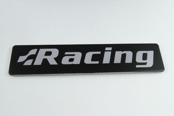 3D Aluminum Auto car Black R line Rline Racing GR Emblem Badge Sticker