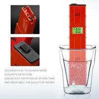 Portatile A CRISTALLI LIQUIDI Digital PH Meter Tester Tascabile Acqua Professionale Penna di Test PH 0.01-14 Per Aquarium Pool Laboratorio di Rilevamento