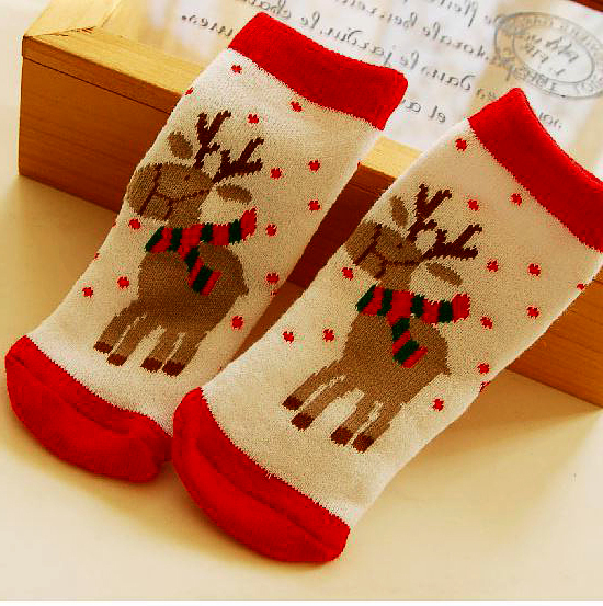 0 3 year old cotton baby boy girl socks for Christmas winter child Xmas children kids gifts presents sock-in Socks from Mother \u0026 Kids on