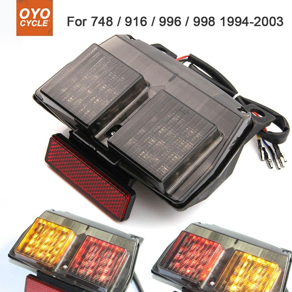 Motorcycle Integrated LED Tail Light Brake Turn Signal Blinker For Ducati 748 916 996 998 1994-2003