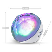 Bluetooth Hi Fi Stereo Speakers Colorful LED Light Handsfree Wireless Speaker With Mic TF Card AUX