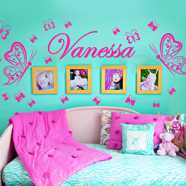 Custom Personalised Name Erflies Decoration Wall Art Baby Bedroom Decor Murals Vinyl Decals