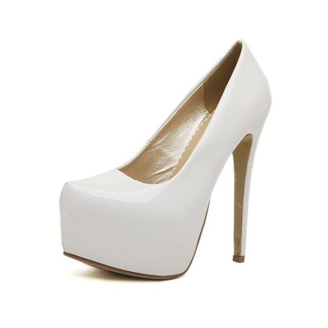 TTSDARCUPS New women shoes platform heels Super high heel 15CM sexy Nightclub pumps Big size 35-44 Estos zapatos son mujeres.