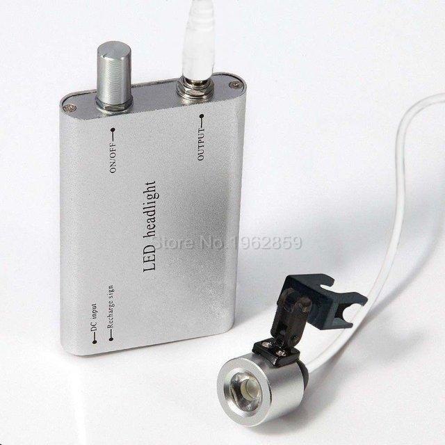 O Envio gratuito de LED Head Light Lâmpada Cirúrgica Dental Oral LEVOU Clipe Na Luz Cabeça para Cirúrgica Lupas Binoculares 5 Cores