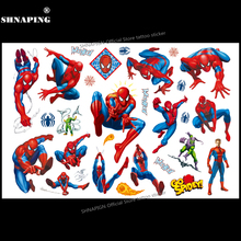 SHNAPIGN Cute Spiderman Children Cartoon Temporary Tattoos Sticker Fashion Style Elsa Waterproof Girls Kids Boys Hot