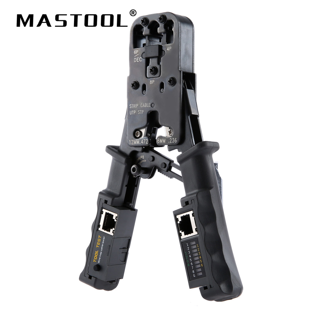 2 In 1 Multifunction Pliers Network Tool Test Crimping Pliers Detachable Cable Tester Integrated Stripping And Cutting Tool 2 in 1 round multifunction graduated cutting cable strippers rasp dremel 2016