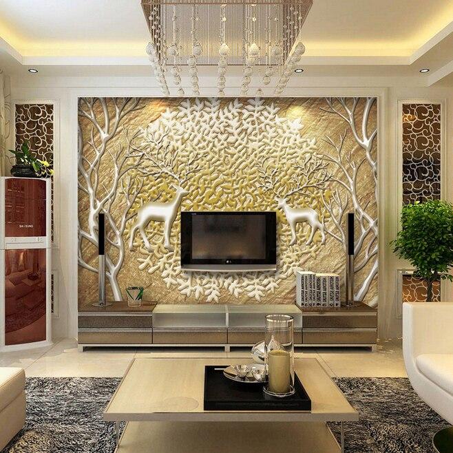 Funky White Gloss Wall Unit Living Room Frieze - Wall Art ...