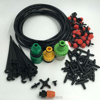 30x Dripper 25m Hose DIY Plant Micro Drip Irrigation Systems Automatic Self Watering Kit Garden Hose