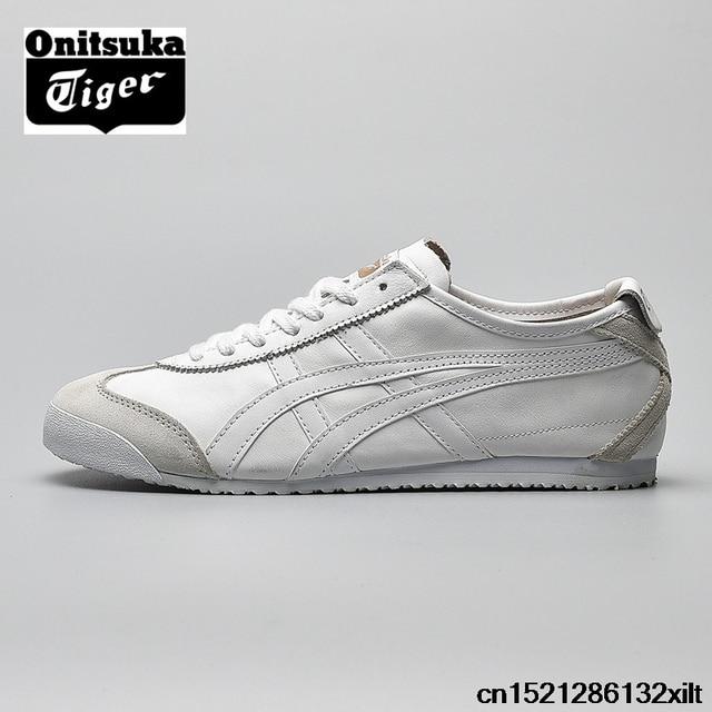 04786eb8deda ONITSUKA TIGER White Men Women Sneakers MEXICO 66 Rubber sole Hard-Wearing  Comfortable Breathable Badminton Shoes Size36-44