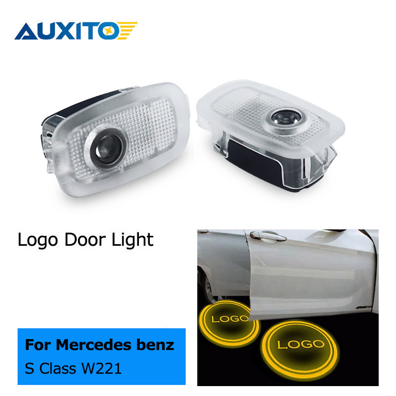 Led car door courtesy laser projector logo ghost shadow for Mercedes benz projector lights