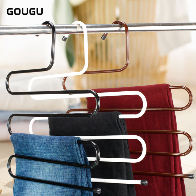 Attrayant Gougu S Shape Multi Purpose Hangers Metal Trousers Hanger/Rack  Multifunction Pants Closet Belt