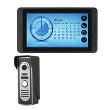 Камера-видеорегистратор домофон дверной Звонок камера Видео дверной телефон домашняя система безопасности комплект ночного видения водостойкая ИК-камера проводной 7 »экран