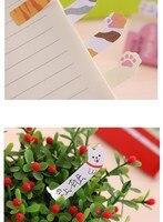 мини-прекрасный каваи мультфильм животные панда кошка блокнот же мемо тетрадь отменяет школьные принадлежности примечание бумага наклейки
