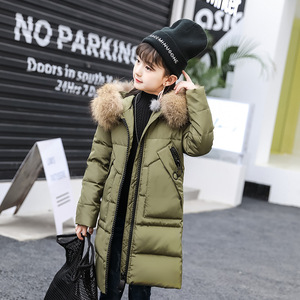 Image 5 -  30 derece kız giyim sıcak aşağı ceket kız elbise 2020 kış kalınlaşmak Parka gerçek kürk kapşonlu çocuk giyim mont