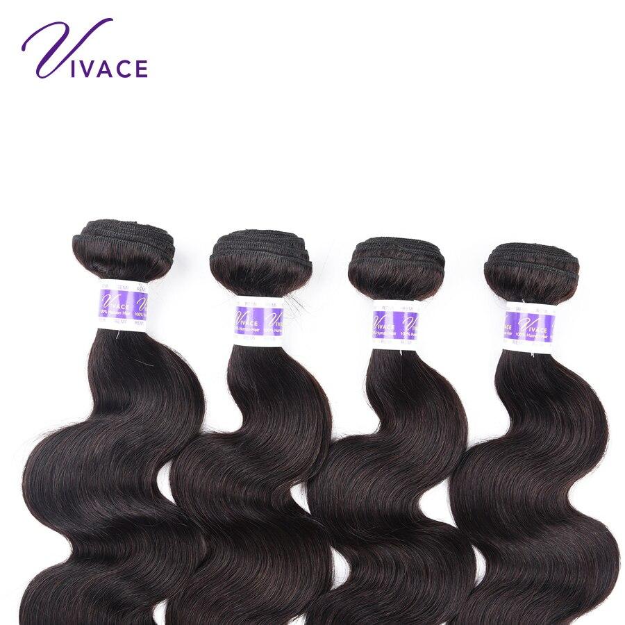 VIVACE μαλλιά 3 δέσμες Βραζιλιάνικες - Ανθρώπινα μαλλιά (για μαύρο) - Φωτογραφία 3