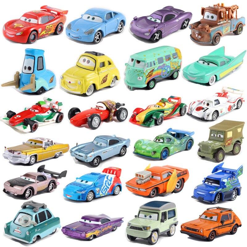 Disney Pixar седан 3 Молния Маккуин Салли литье под давлением Джексон шторм 1:55 литой металлический игрушечный автомобиль 2 детский подарок на ден...