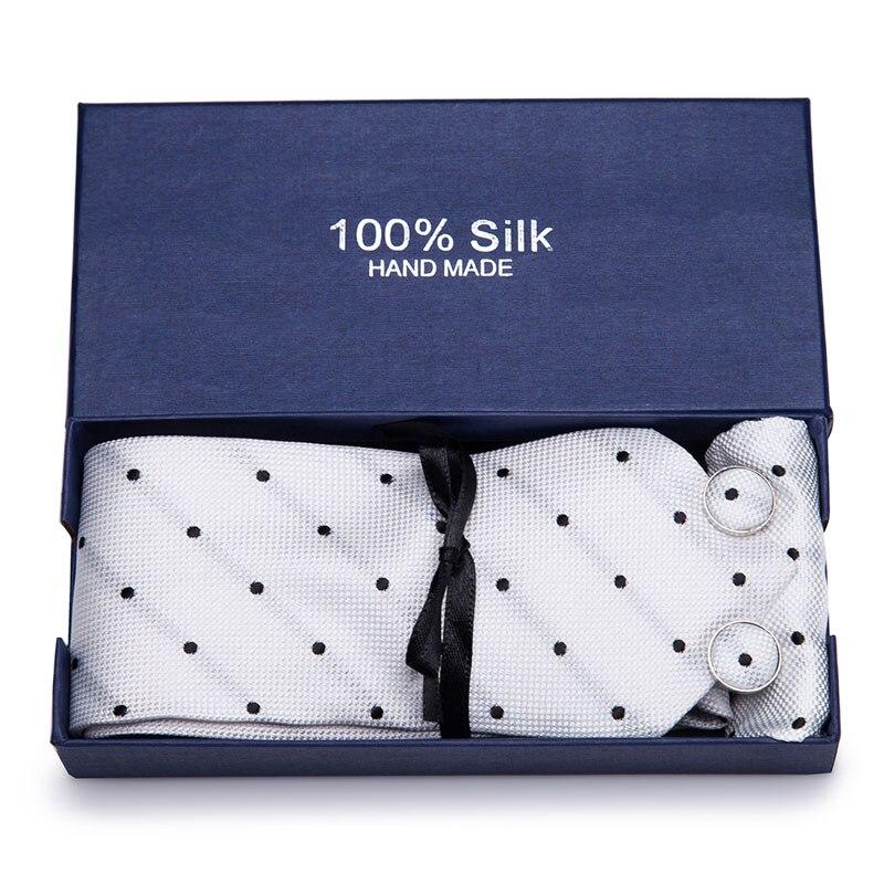 38Colors 100% Silk Ties For Men Wedding Snow Blue Polka Dot Necktie 7.5cm Red Gravata Gifts shirt accessories