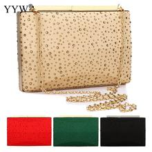 New Evening Clutch Bag Rivet Box Crossbody Bags With Chain Wedding Party Bolso New Year Gift Ladies Clutches Wallets Women's Bag milisente 2018 new arrival evening bag women evening clutch bags top quality female clutches ladies wedding bag