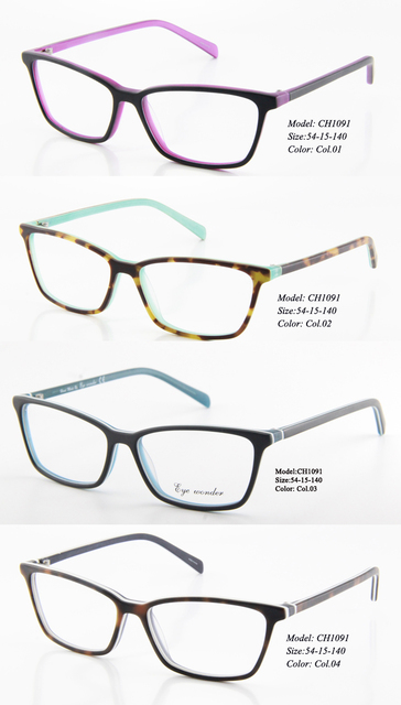 7731f73f59f Eye wonder Wholesal Fashion Women Vintage Desiner Optical Frames Gafas in  Purple Blue Green Demi Colors CH1091
