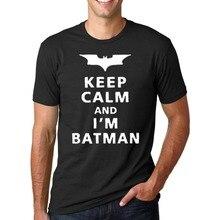 Gardez Le Calme Que Je Suis Batman 2017 D'été pp De Mode lettre coton T-Shirts de crossfit Hommes O-cou hip-hop t-shirt marque Tops homme(China (Mainland))