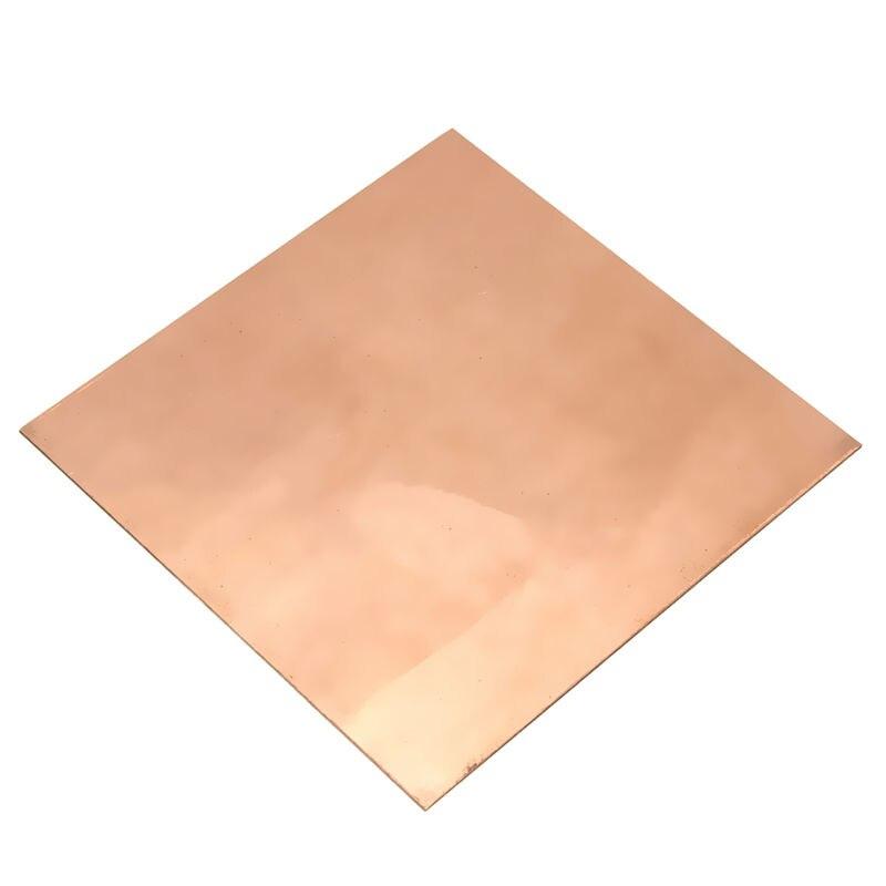 Новый 1 шт. 1 мм x 100 мм x 100 мм 99.9% Медь КР металла Простыни пластины хороший механические свойства и Термальность стабильность